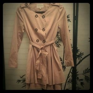 Adorable Dusty Pink Double Breasted Coat